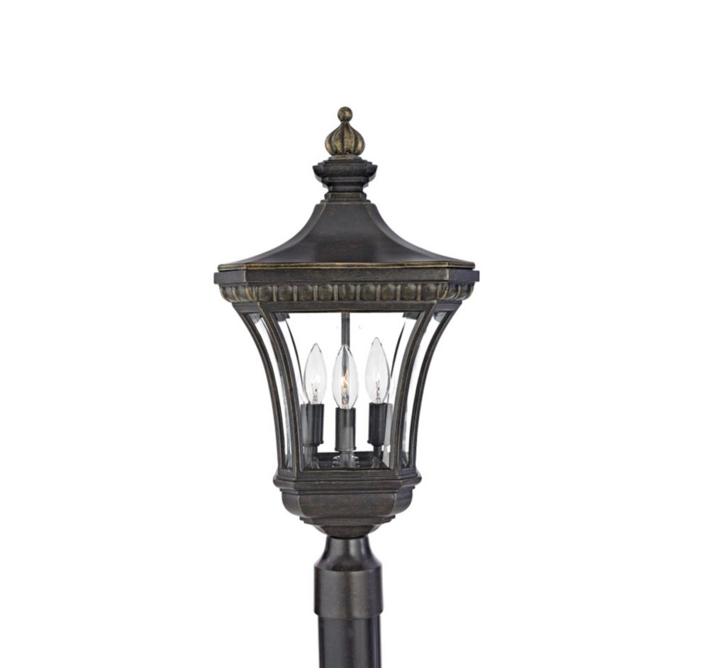 Monroe 3-Light Imperial Bronze Outdoor Post Lantern