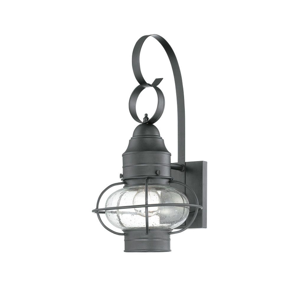 Monroe 1 Light Mystic Black Outdoor Incandescent Wall Lantern CLI-QU165294 in Canada