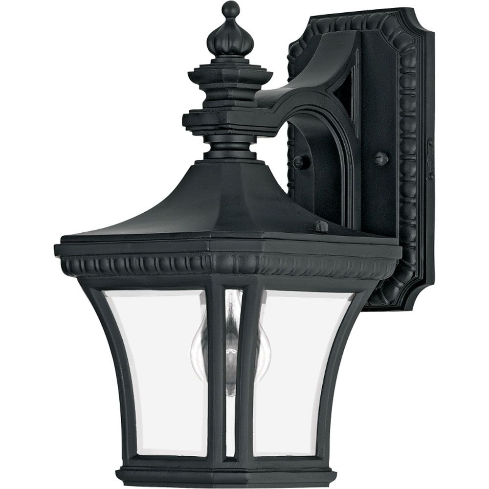 Monroe 1-Light Mystic Black Outdoor Wall Lantern