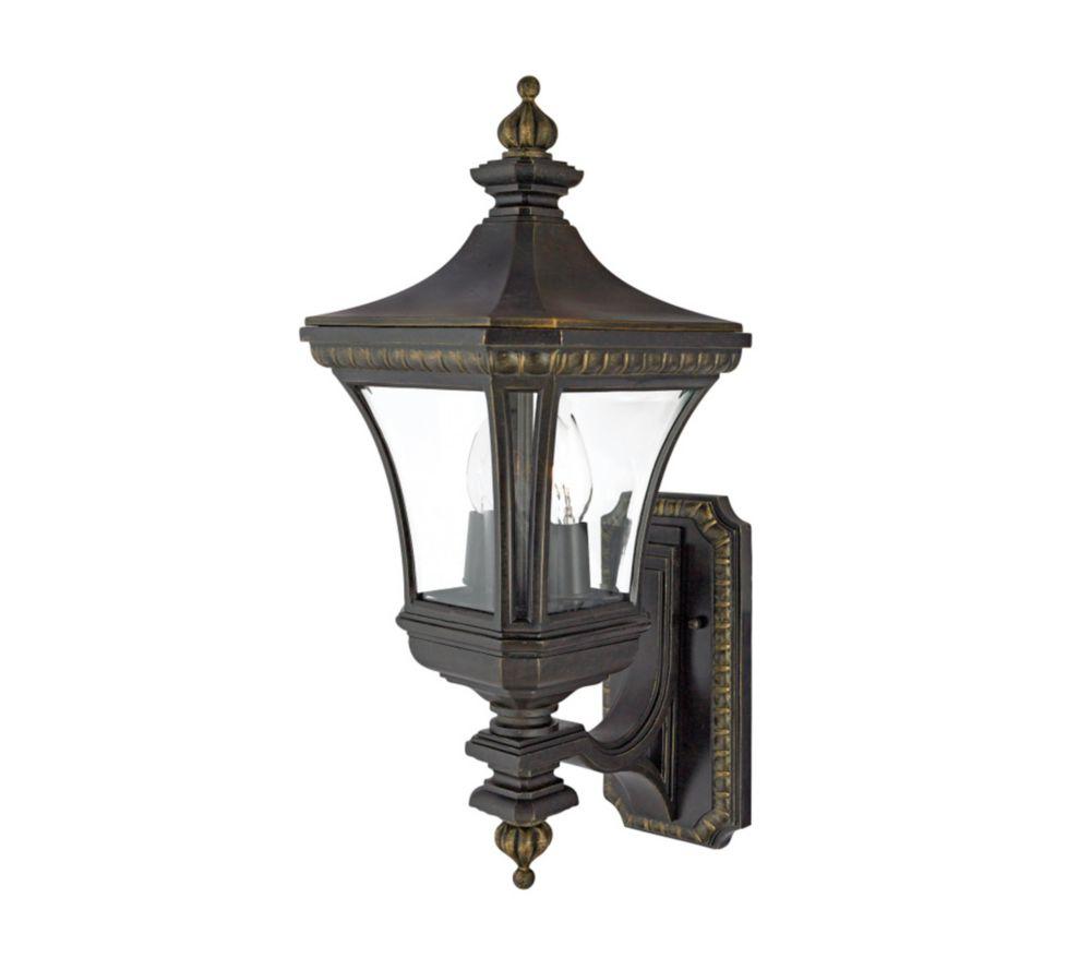 Monroe 2 Light Imperial Bronze Outdoor Incandescent Wall Lantern