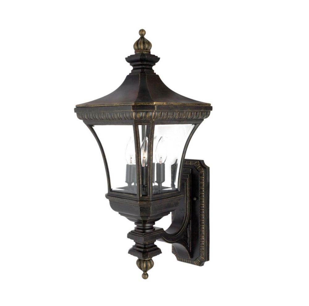 Monroe 3 Light Imperial Bronze Outdoor Incandescent Wall Lantern