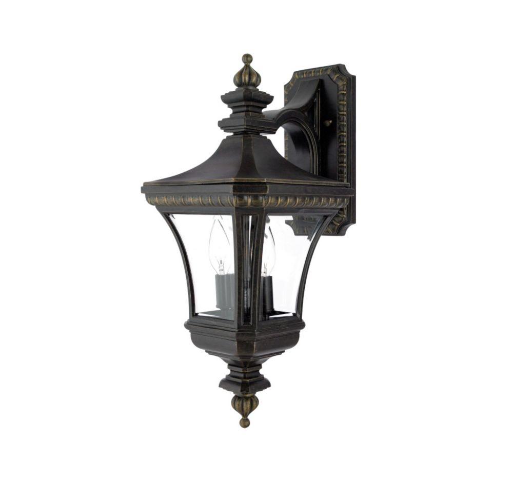 Monroe 2-Light Imperial Bronze Outdoor Wall Lantern