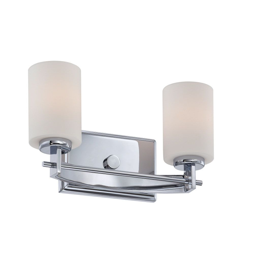 Monroe 2 Light Polished Chrome Incandescent Vanity with an Opal Etched Shade CLI-QU174364 Canada Discount
