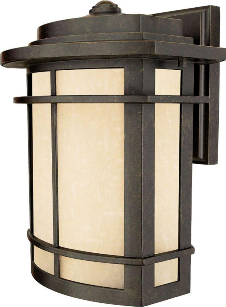 Monroe 1 Lumière Imperial Bronze extérieur Lanterne murale à incandescence