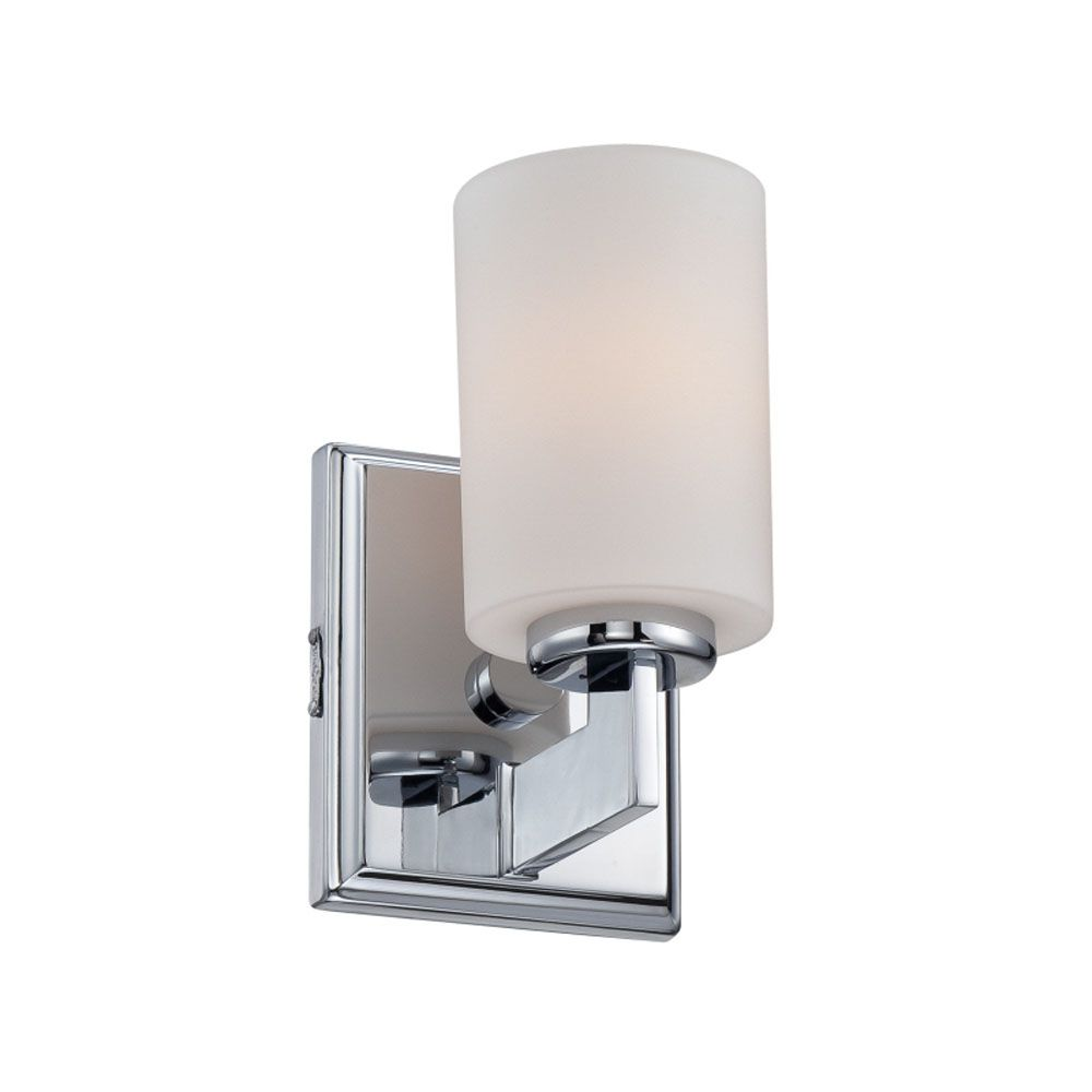 Monroe 1-Light Polished Chrome Vanity with an Opal Etched Shade