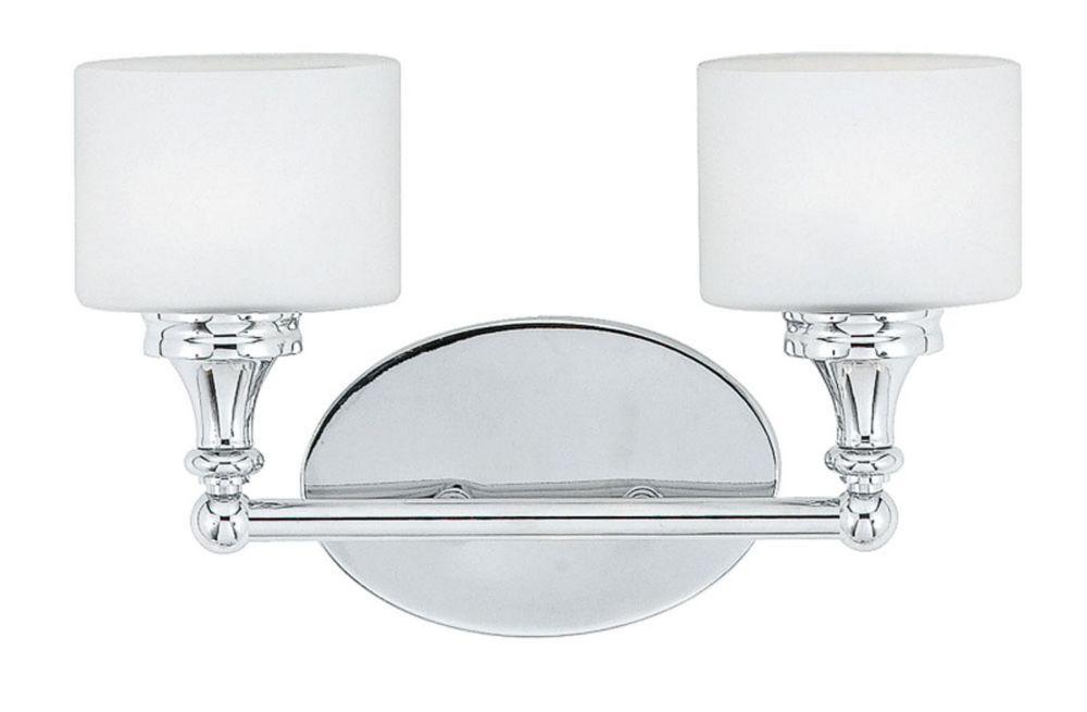 Monroe 3 Lumière Vanity incandescence Chrome poli avec un gravé ombre d'Opale