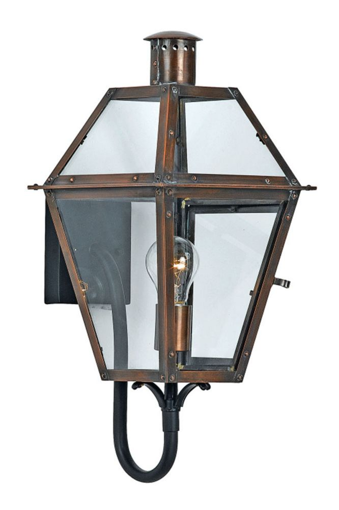 Monroe 1-Light Aged Copper Outdoor Wall Lantern