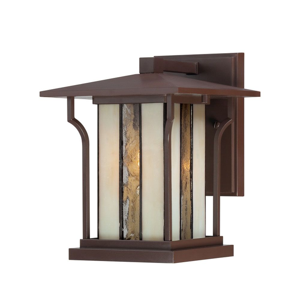 Monroe 1 Light Chocolate Bronze Outdoor Incandescent Wall Lantern CLI-QU181928 in Canada