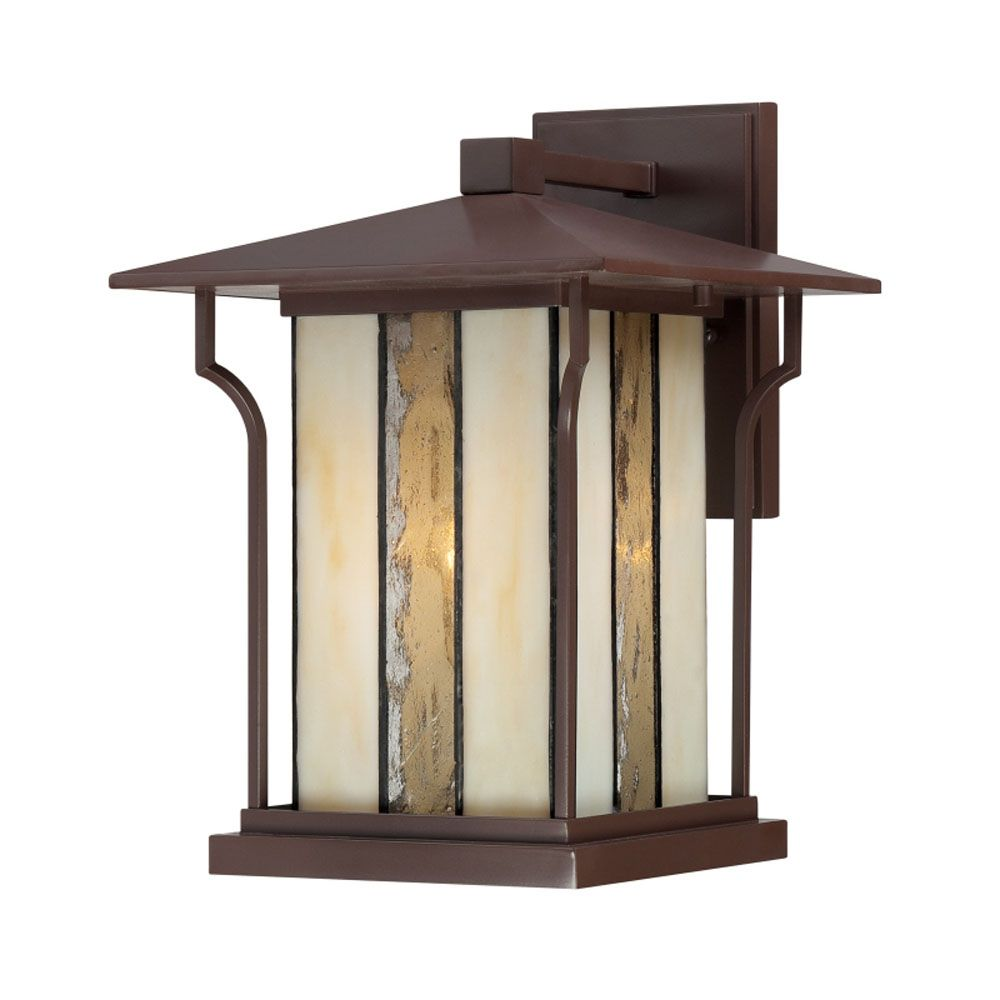Monroe 1 Light Chocolate Bronze Outdoor Incandescent Wall Lantern CLI-QU181935 in Canada