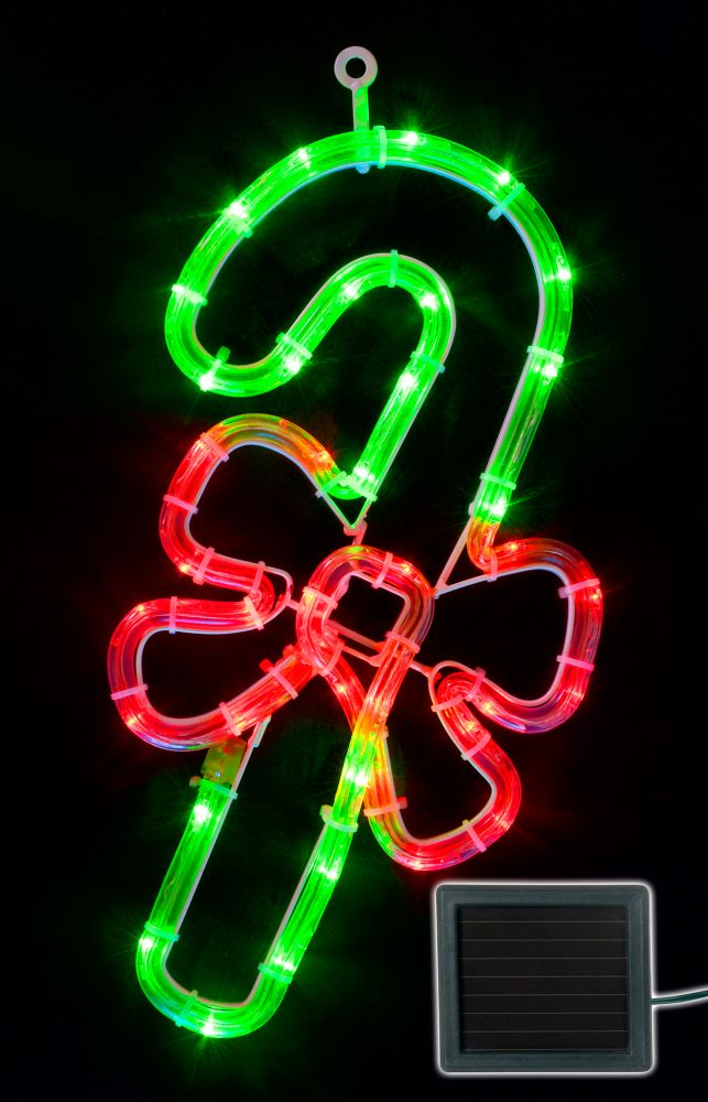 Solar Rope Light - Candy Cane