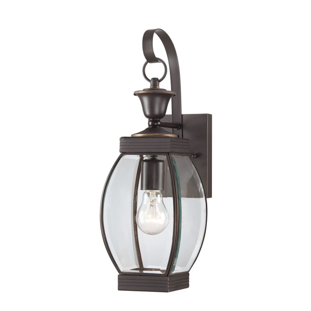 Monroe 1-Light Medici Bronze Outdoor Wall Lantern