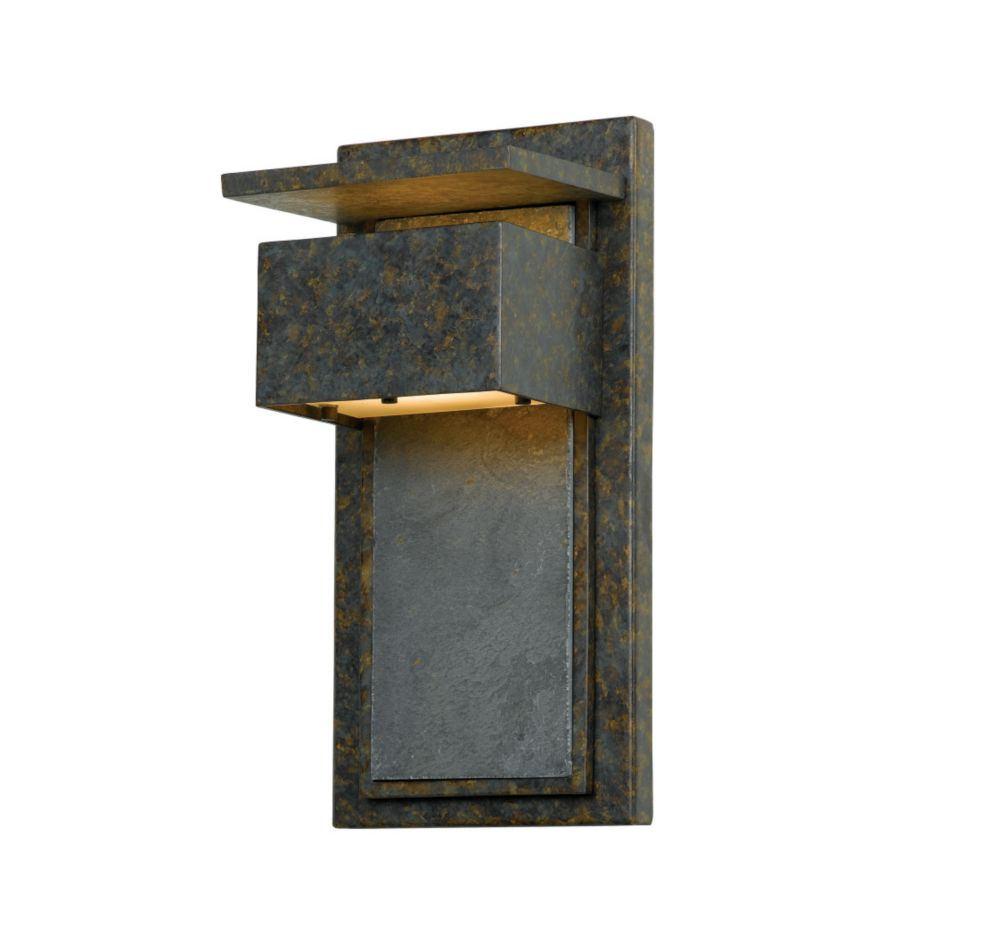 Monroe 1 Light Muted Bronze Outdoor Halogen Wall Lantern