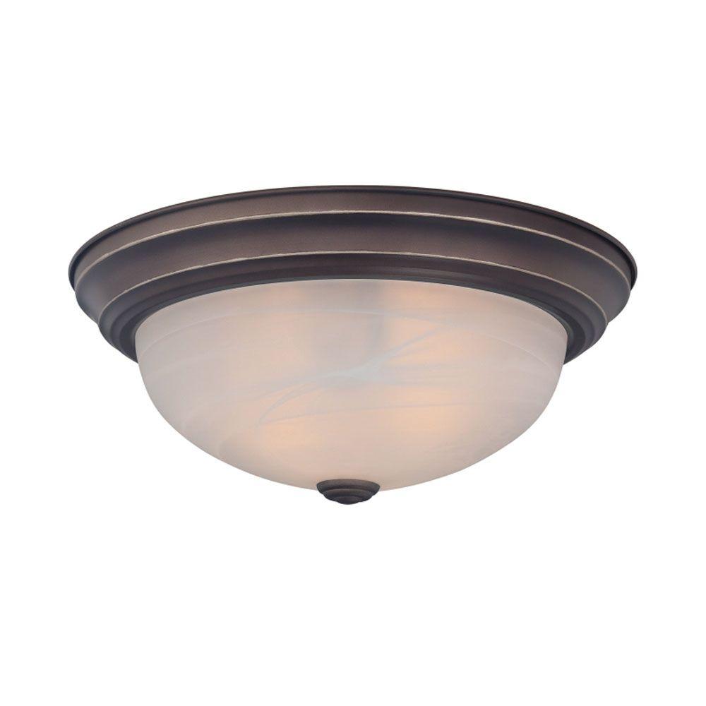 Monroe 2 chrome poli lumière incandescente encastré avec une gravé ombre d'Opale
