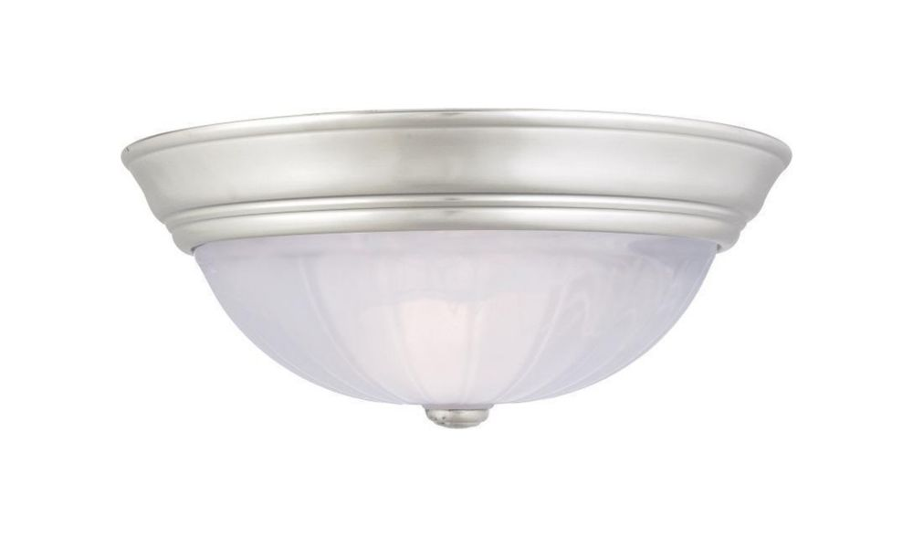 Monroe 3-Light Palladian Bronze Flush Mount with an Alabaster Melon Shade