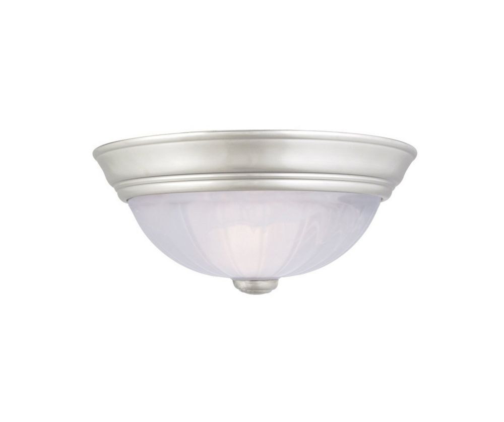 Monroe 1-Light Palladian Bronze Flush Mount with an Alabaster Melon Shade