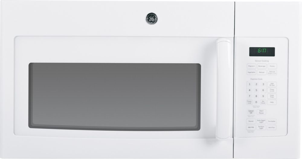 GE White 1.6 CF Over-The-Range Microwave Oven