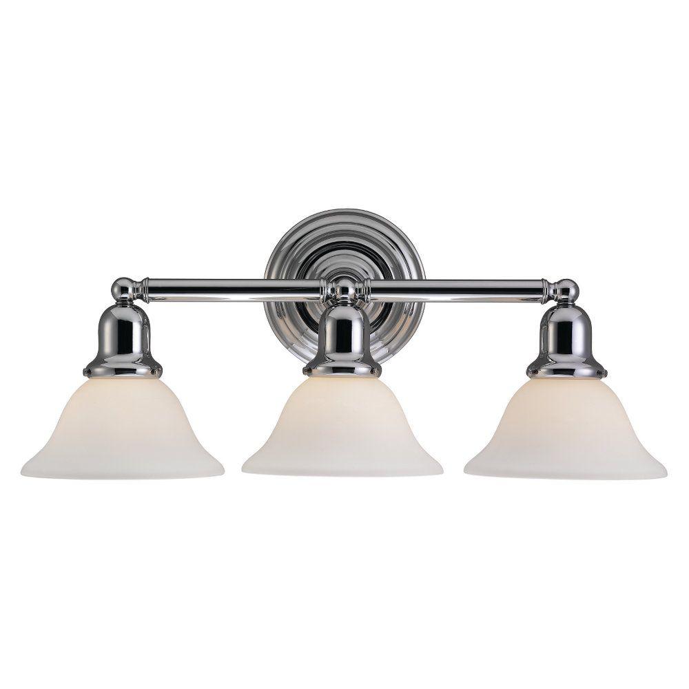 3-Light Chrome Bathroom Vanity
