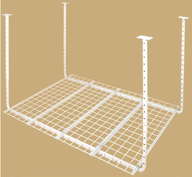 Hyloft 60-inch W x 45-inch D Adjustable Height Garage Ceiling Storage Unit