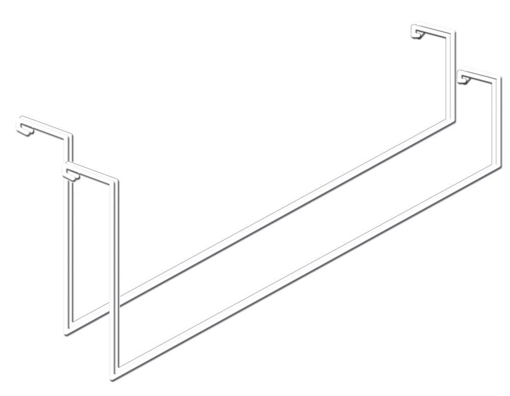 Add-On Storage Hook, White Finish, No Tools Installation