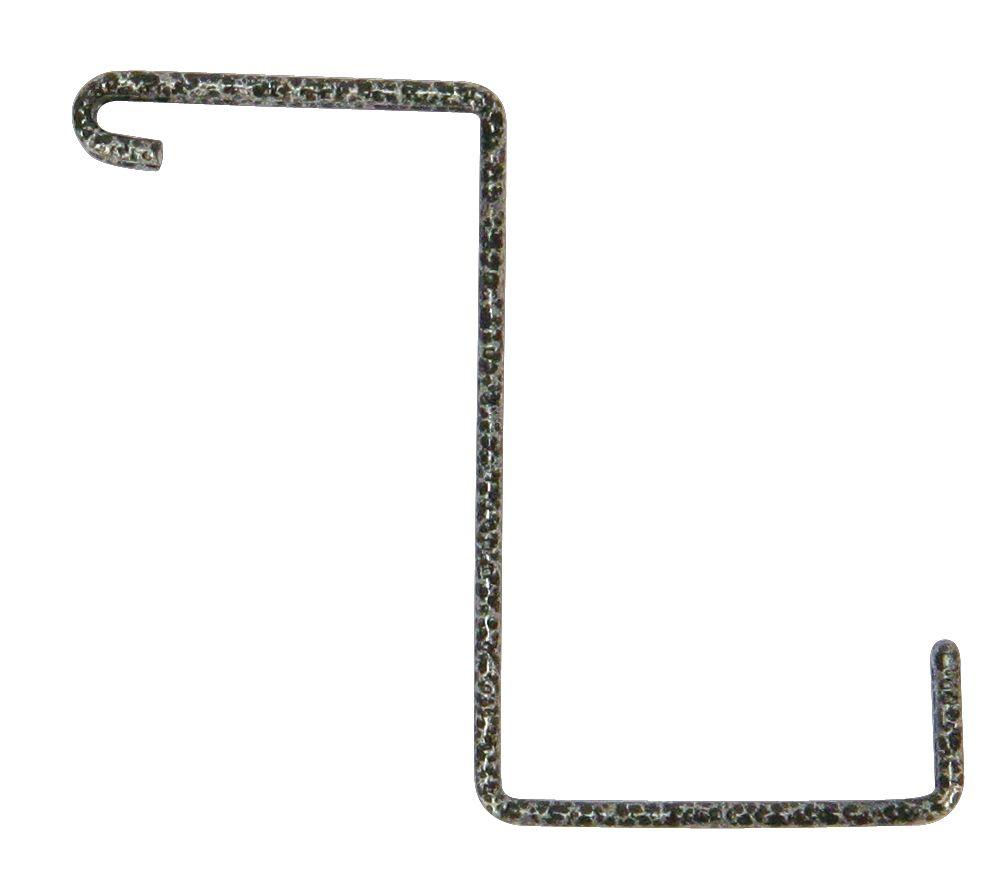 Add-On Storage Hooks, 4-Pack Black Hammertone Finish, No Tools Installation