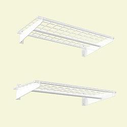 Hyloft 2-Shelf 36-inch W Wire Garage Wall Storage System in White