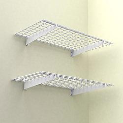 Hyloft 2-Shelf 48-inch W Wire Garage Wall Storage System in White
