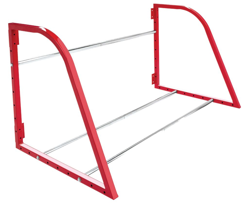 Tire Loft, Red Finish, Adjustable Width 36-48 Inch, 375 Lb Weight Capacity