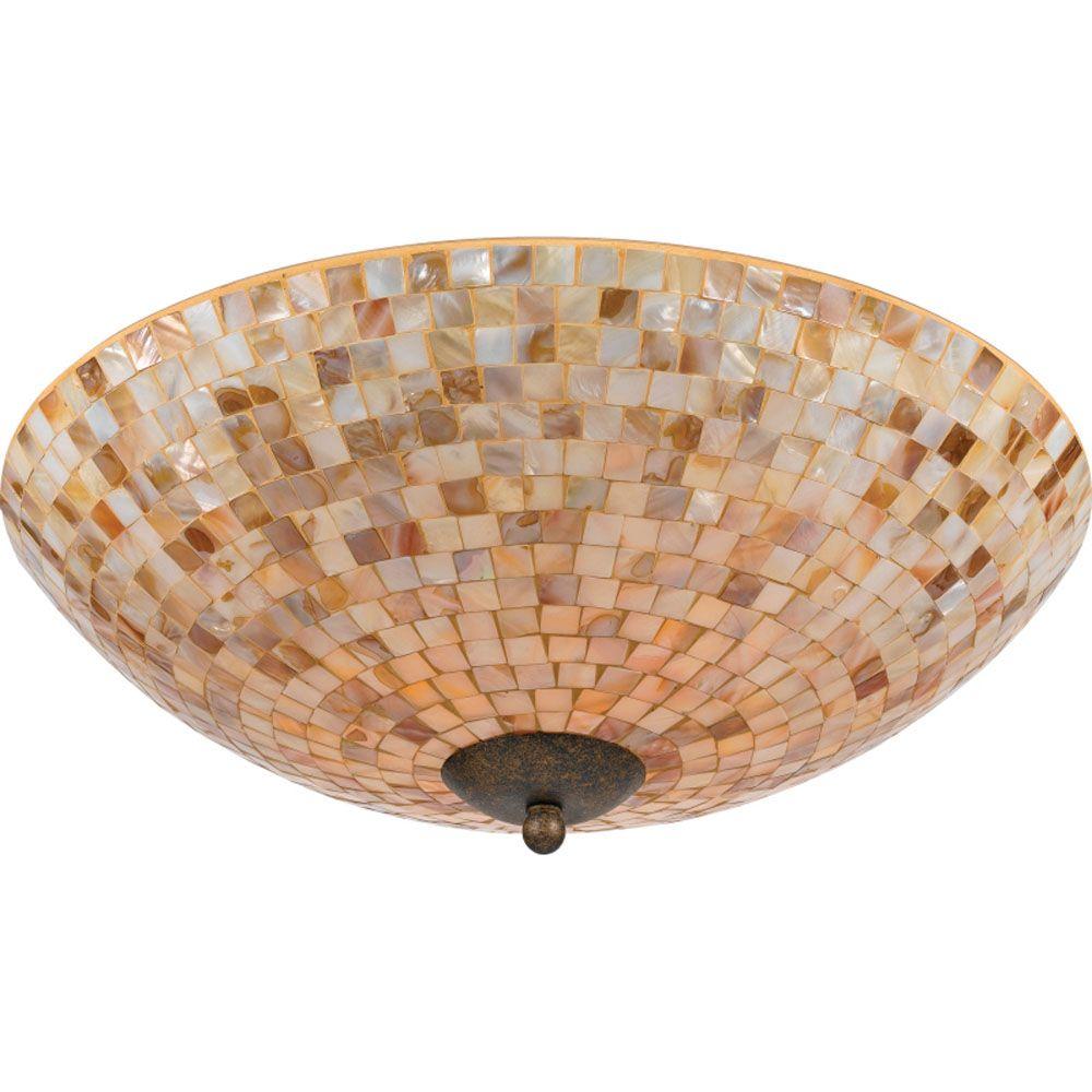 Monroe 4-Light Malaga Flush Mount with a Penshell Shade