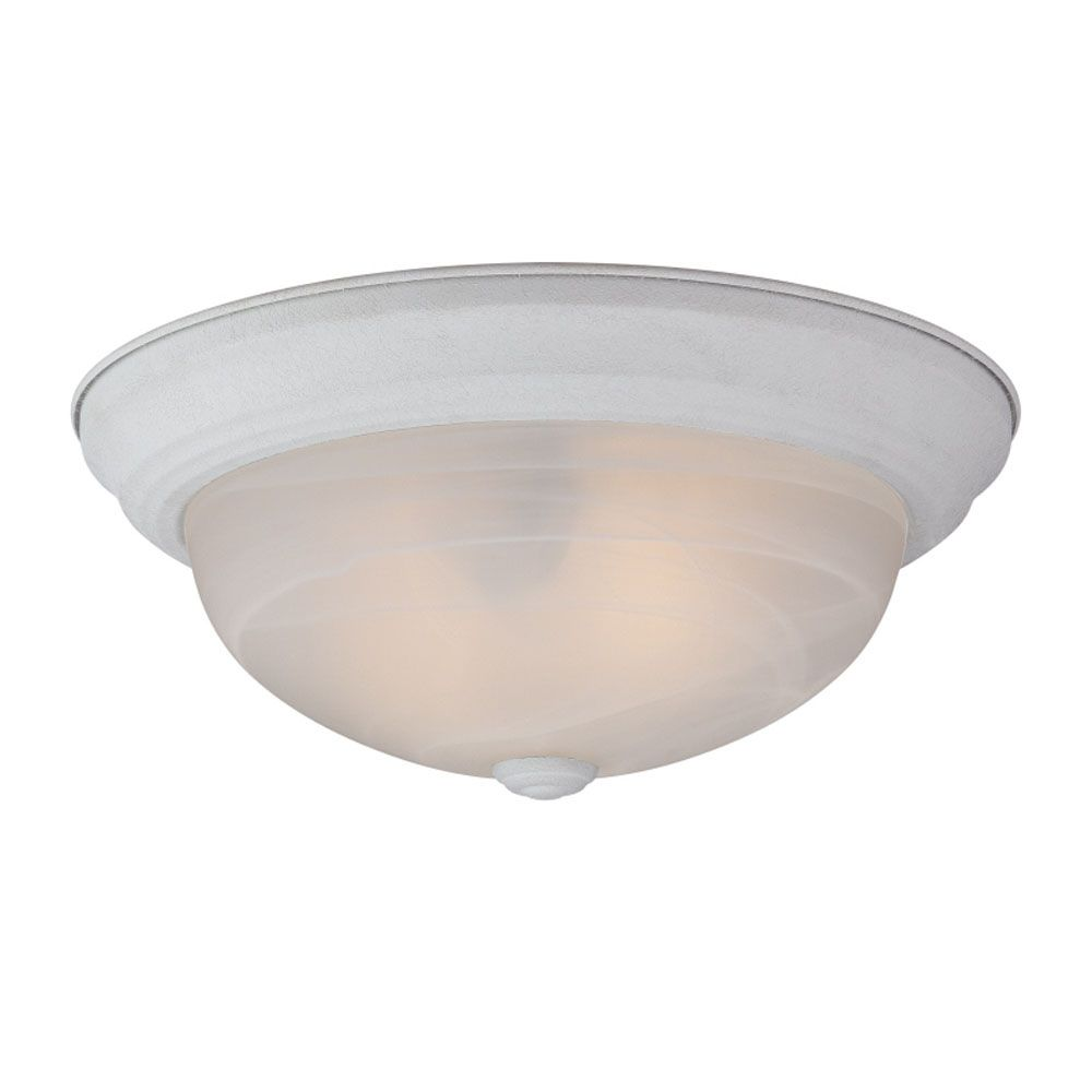 Monroe 2 Light Fresco Incandescent Flush Mount with an Opal Etched Shade