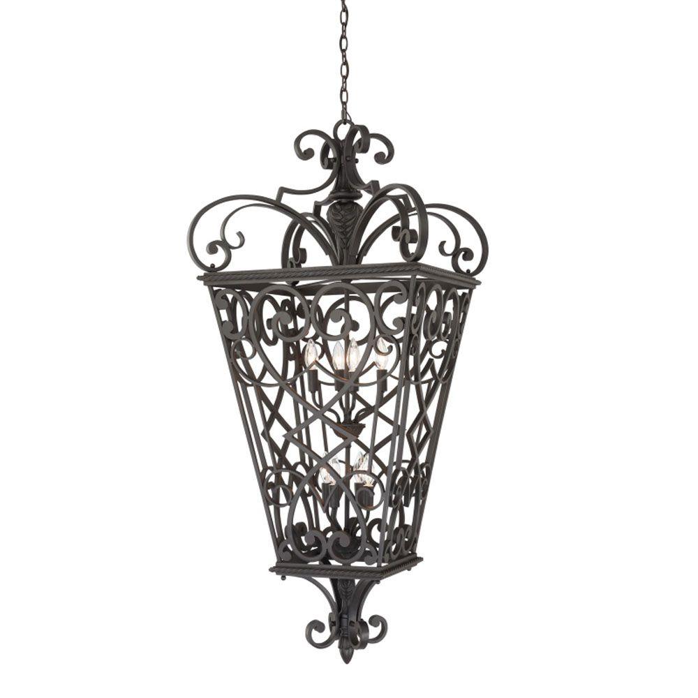 Monroe 8-Light Marcado Black Outdoor Pendant Light