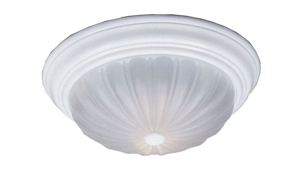 Monroe 1-Light Fresco Flush Mount with an Etched Melon Shade