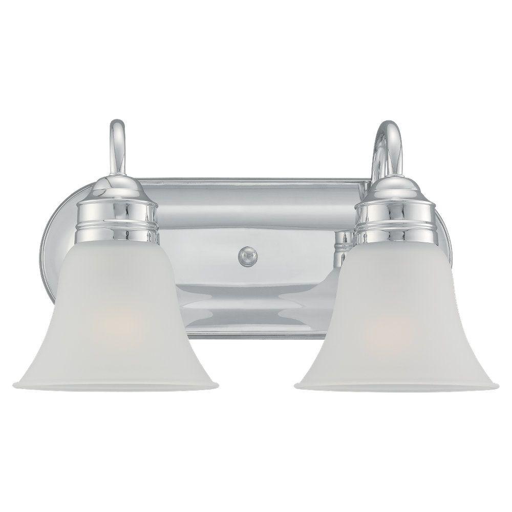 2 Light Chrome Incandescent Bathroom Vanity