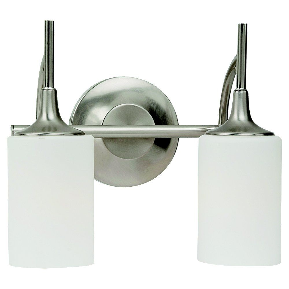 2-Light Brushed Nickel Bathroom Vanity