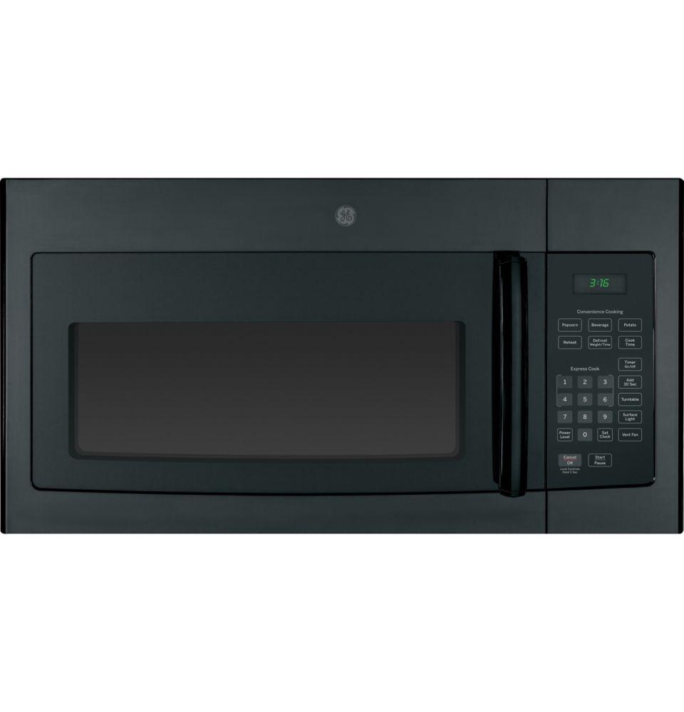 GE GE Black 1.6 CF Over-The-Range Microwave Oven