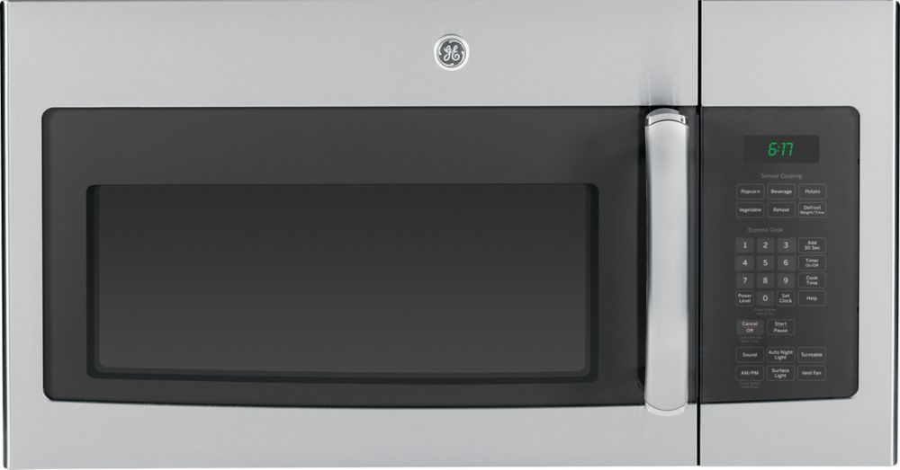 Ge Stainless Steel 1 6 Cf Over The Range Microwave Oven