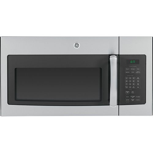 GE 30-inch W 1.6 cu. ft. Over the Range Microwave in Stainless Steel with Sensor Cooking