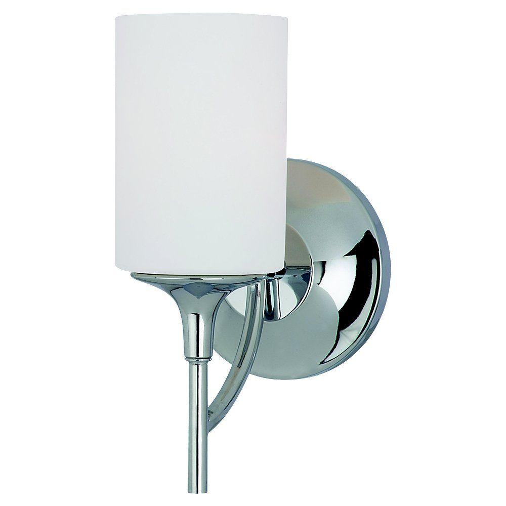 1 Light Chrome Incandescent Bathroom Vanity