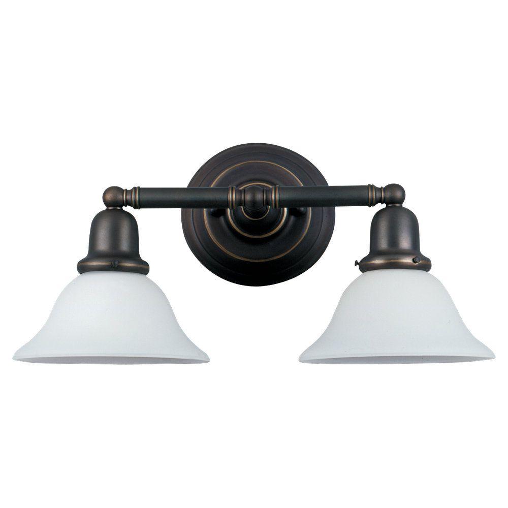 2-Light Heirloom Bronze Bathroom Vanity