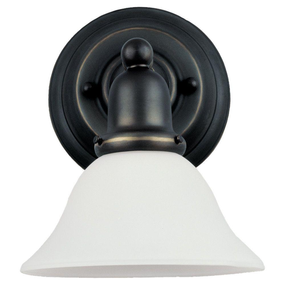 1-Light Heirloom Bronze Bathroom Vanity