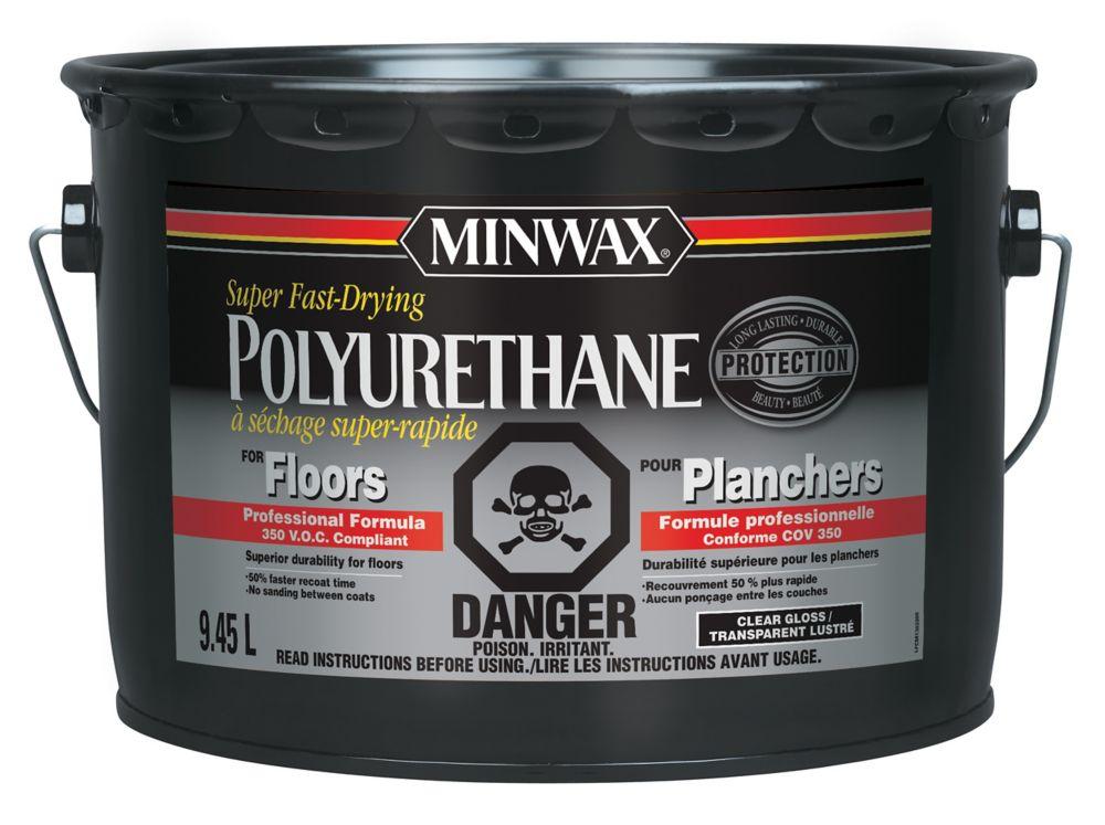 Polyuréthane à séchage super rapide pour planchers (VOC) - Lustré