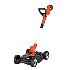 12-inch 6.5 Amp Corded Electric Straight Shaft Single Line 3-in-1 String Grass Trimmer/Lawn Edger/Push Mower