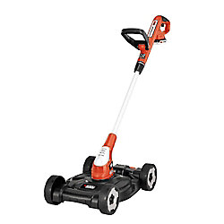 BLACK+DECKER 12-inch 20V MAX Li-Ion Cordless 3-in-1 String Trimmer/Edger/Mower w/ (2) 2.0 Ah Batteries and Charger Included