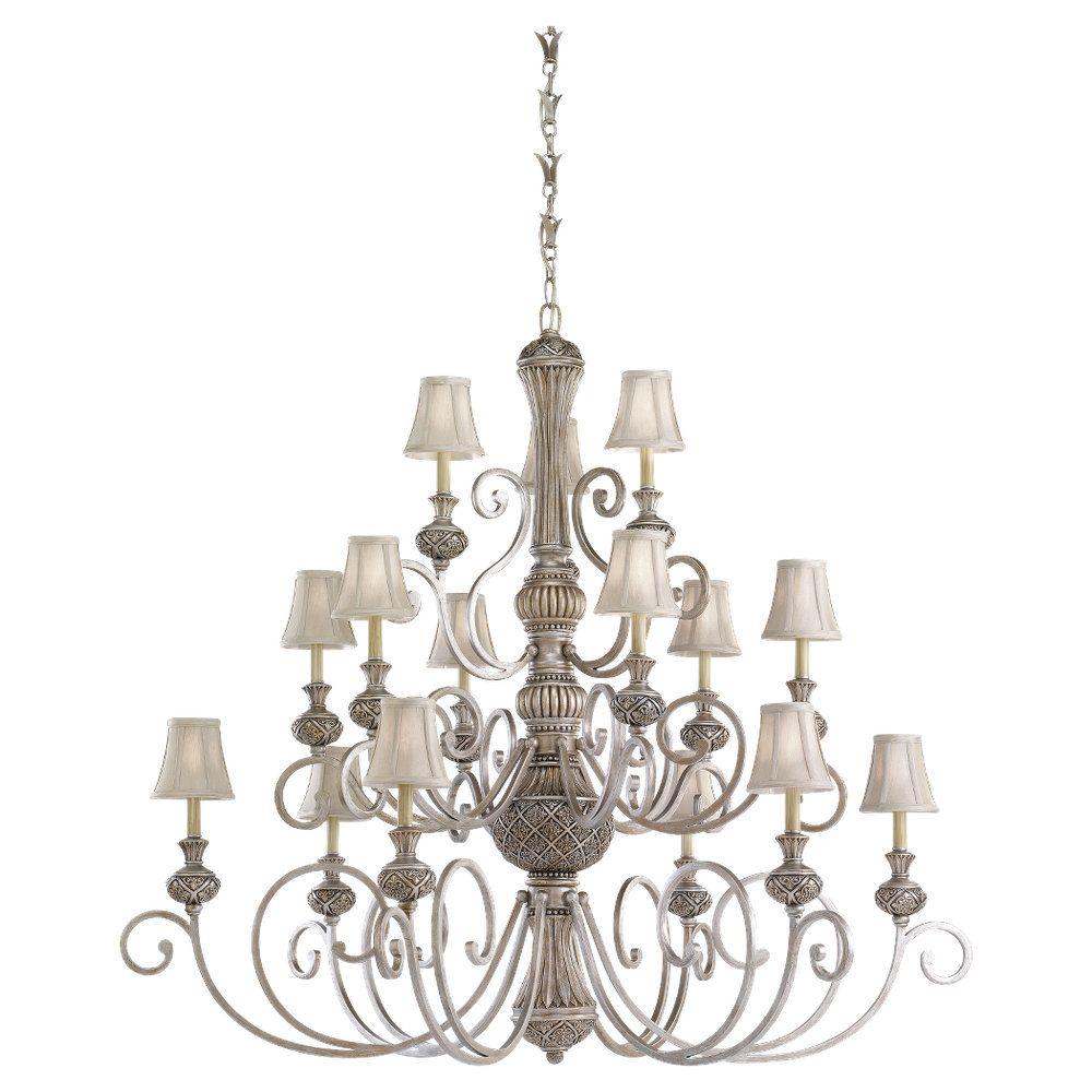15 Light Palladium Incandescent Chandelier