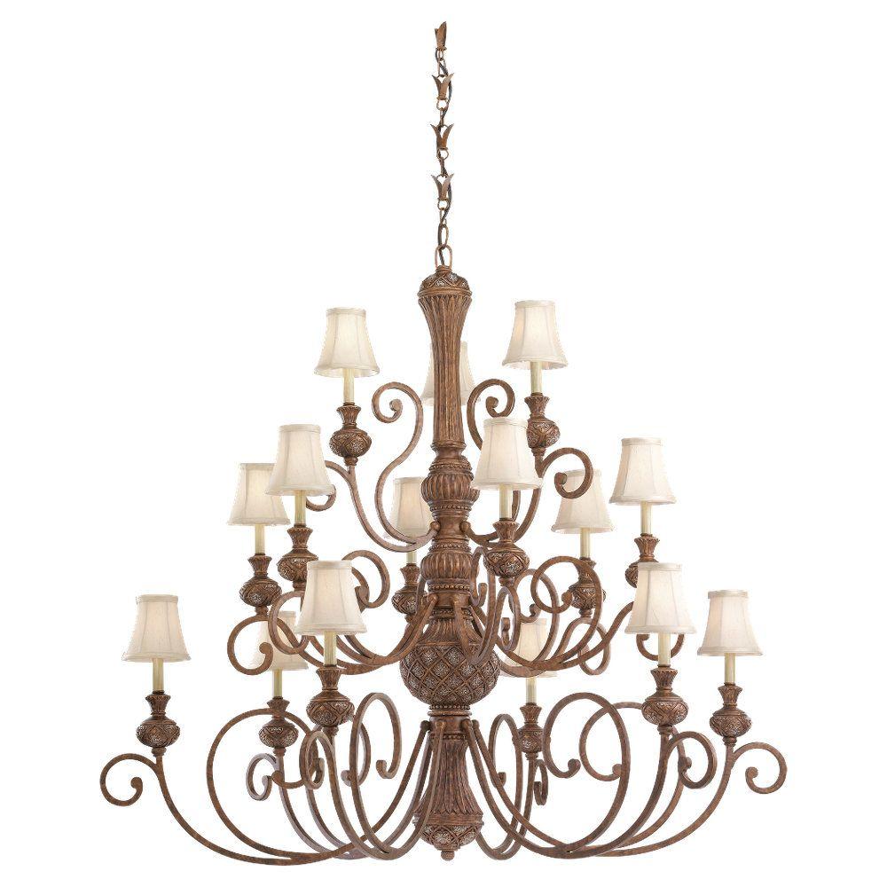 15-Light Regal Bronze Chandelier
