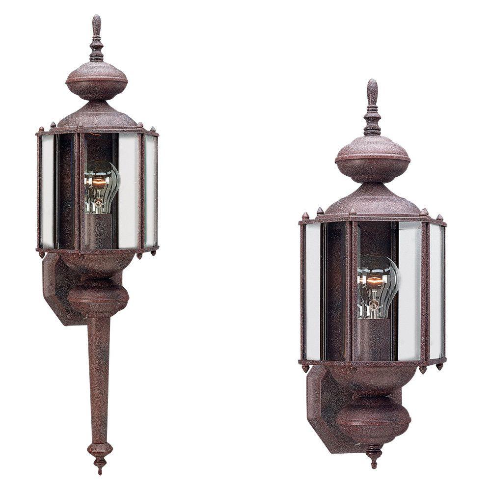 1 Light Sienna Incandescent Outdoor Wall Lantern