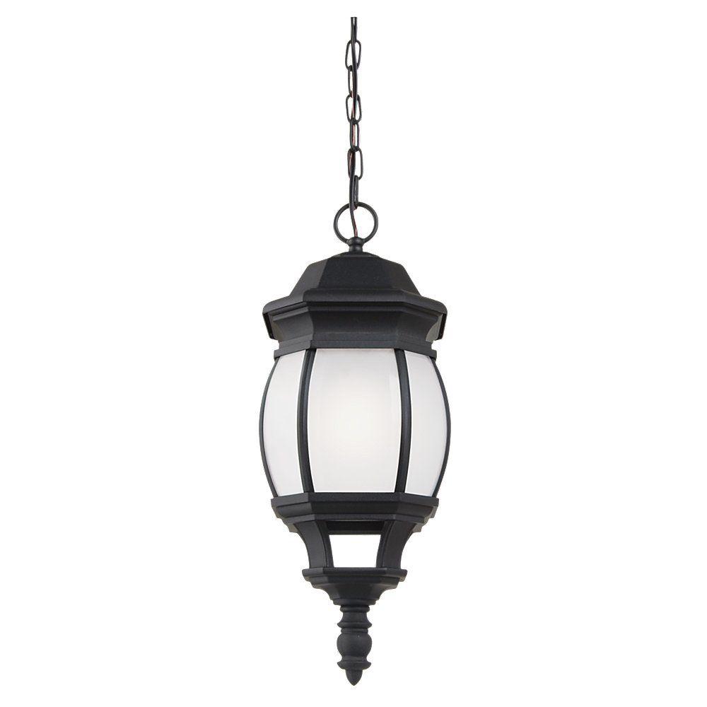 Sea Gull Lighting 1 Light Black Fluorescent Outdoor ...