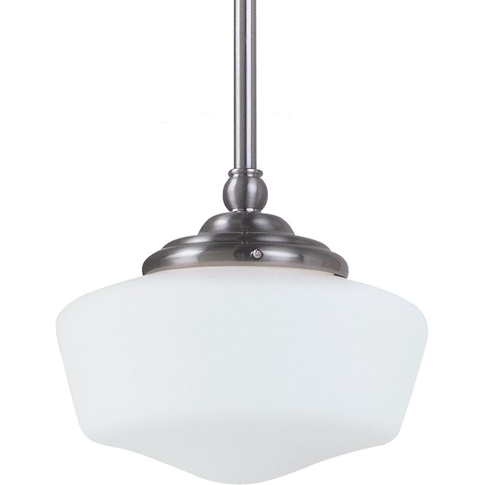 1 Light Brushed Nickel Fluorescent Pendant