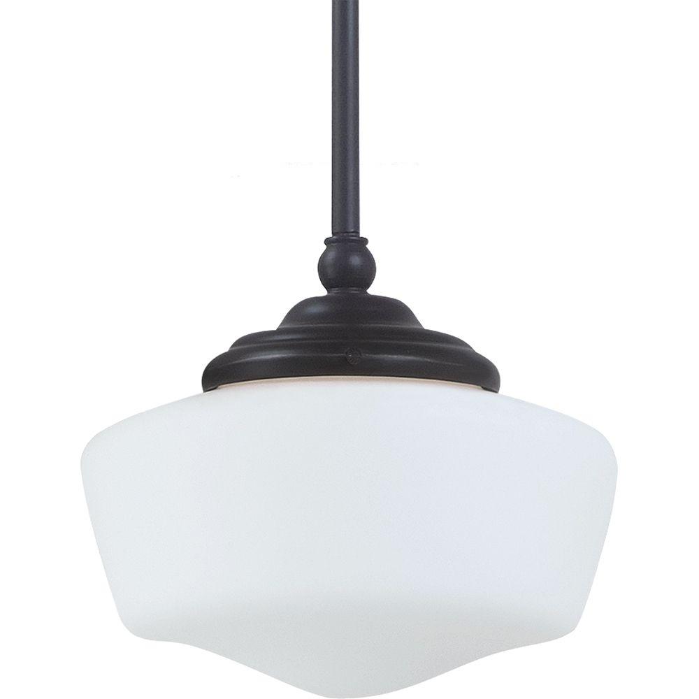 1 Light Heirloom Bronze Fluorescent Pendant