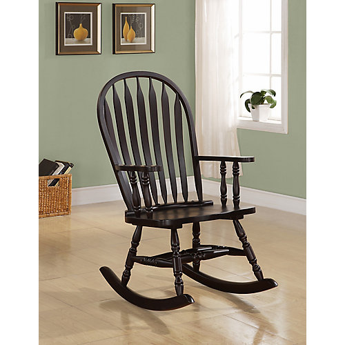 """Rocking Chair - 42""""H / Cappuccino Arrow Windsor Back"""
