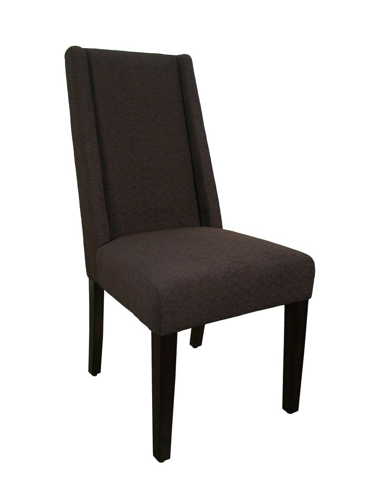 "Dining Chair - 2Pcs / 40""H / Dark Brown Linen Fabric I 1721BR in Canada"